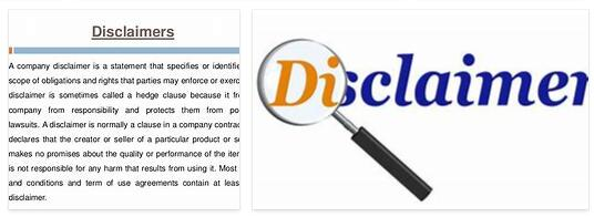 What is a disclaimer