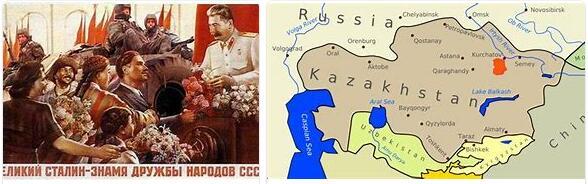 Kazakhstan as part of the Soviet Union