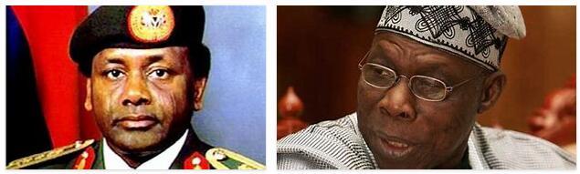 Nigeria History - from Olusegun Obasanjo to Sani Abacha